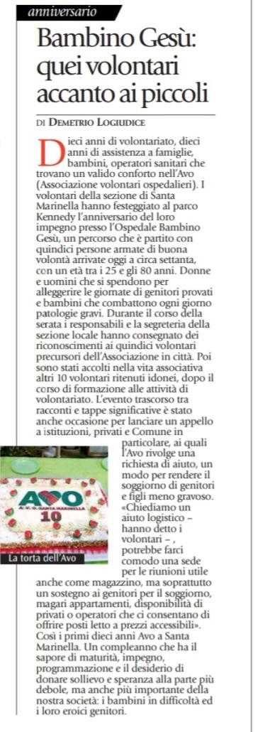 S. MARINELLA festeggia il 10° Anno